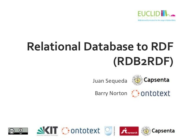 Relational Database to RDF(RDB2RDF)Juan SequedaBarry Norton