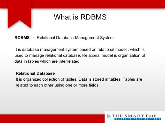 The Smartpath Information Systems   BASIC RDBMS CONCEPTS