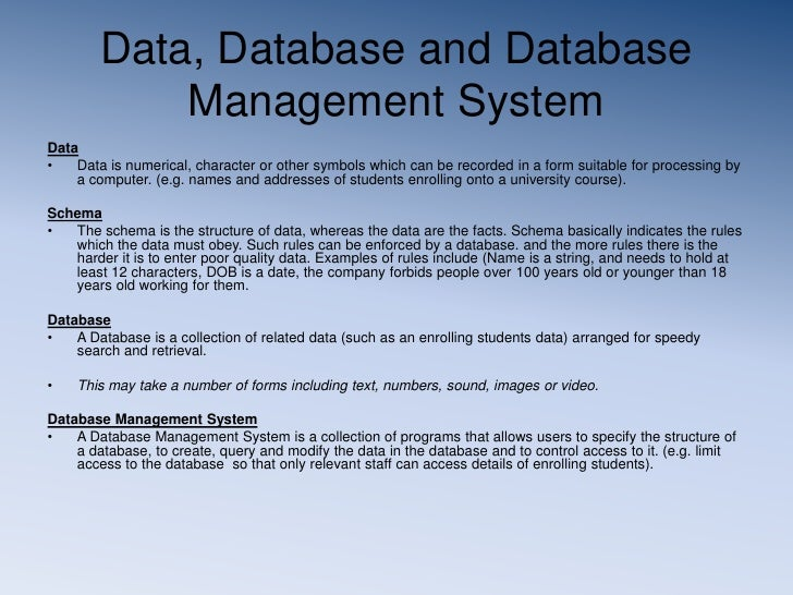 database management system assignment Csc 540: dbms course project - relational database application for  management of homework assignments and submissions for different courses  taken by.