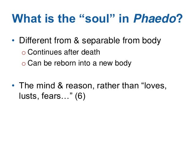 an analysis of the soul in phaedo by socrates Posts about the immortal soul: an analysis of phaedo written by miguel a tovar.