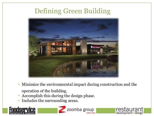 Restaurant development design green building strategies