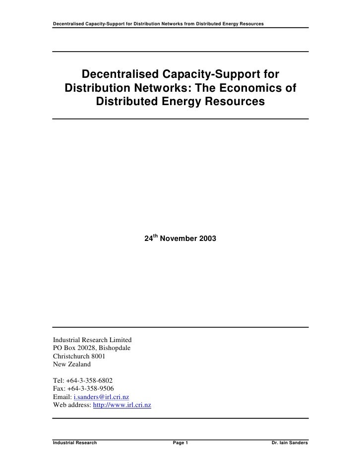 Decentralised Capacity-Support for Distribution Networks from Distributed Energy Resources            Decentralised Capaci...