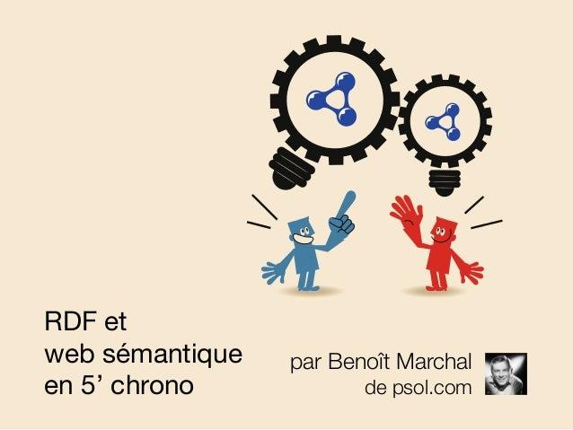 par Benoît Marchal de psol.com RDF et web sémantique en 5' chrono