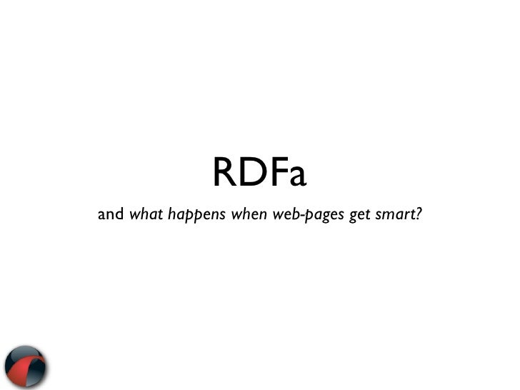 RDFa and what happens when web-pages get smart?