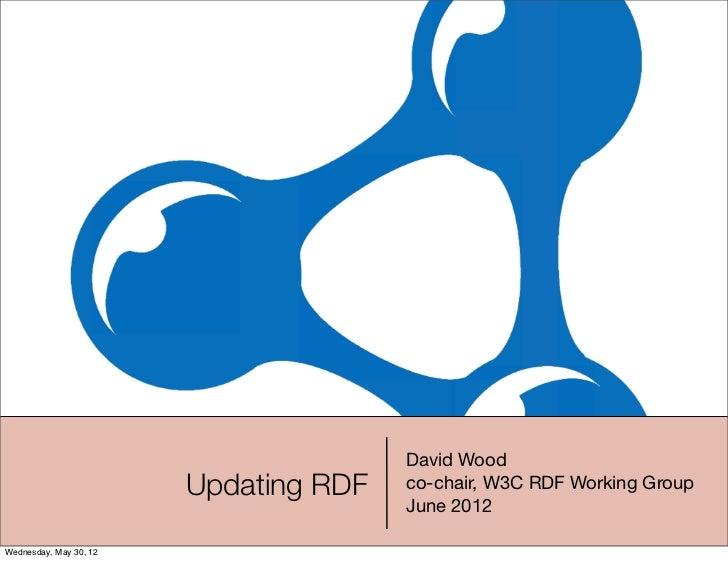 David Wood                        Updating RDF   co-chair, W3C RDF Working Group                                       Jun...