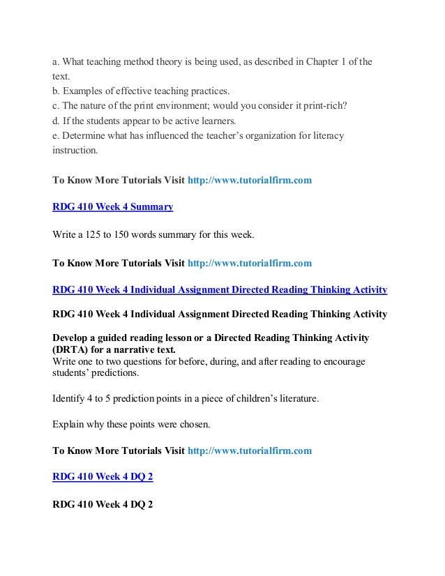 Rdg 410 Uop Course Rdg 410 Uop Materials Rdg 410 Uop Homework