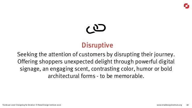 www.retaildesigninstitute.org 83Trendcast 2016 | Designing for Emotion © Retail Design Institute 2016 Temp And Common Area...