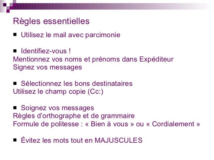 mail professionnel formule de politesse  e mail