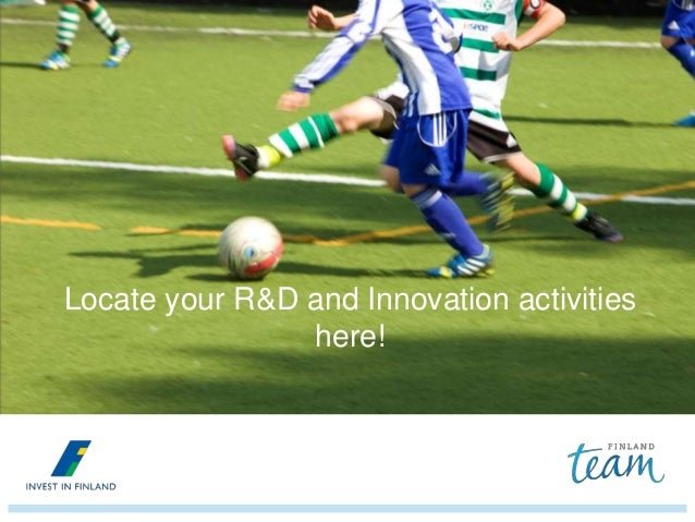 Locate your R&D and Innovation activities here!