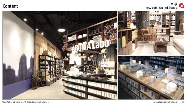 www.retaildesigninstitute.org 28What Makes a Destination? © Retail Design Institute 2016 Muji New York, United StatesConte...