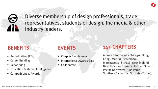 www.retaildesigninstitute.org 3What Makes a Destination? © Retail Design Institute 2016 EVENTS • Chapter Events 100+ • Int...