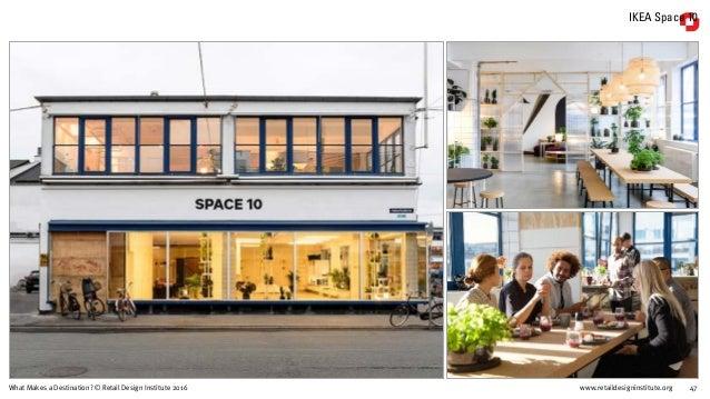 www.retaildesigninstitute.org 47What Makes a Destination? © Retail Design Institute 2016 IKEA Space 10