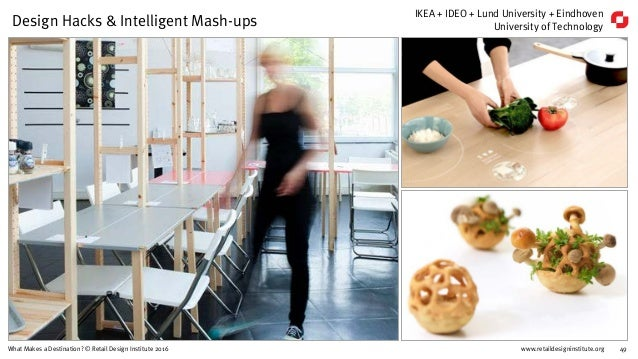 www.retaildesigninstitute.org 49What Makes a Destination? © Retail Design Institute 2016 Design Hacks & Intelligent Mash-u...