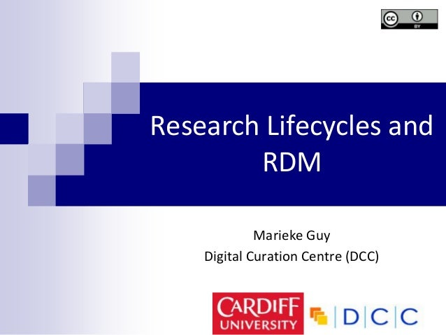 Research Lifecycles andRDMMarieke GuyDigital Curation Centre (DCC)