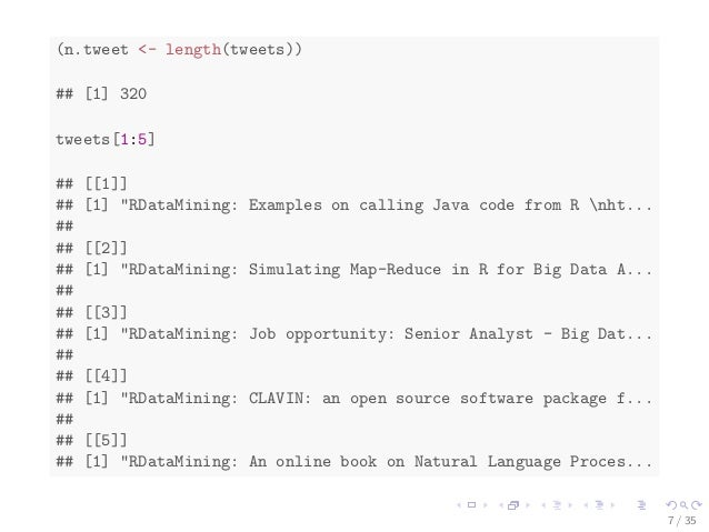 Text Mining with R -- an Analysis of Twitter Data