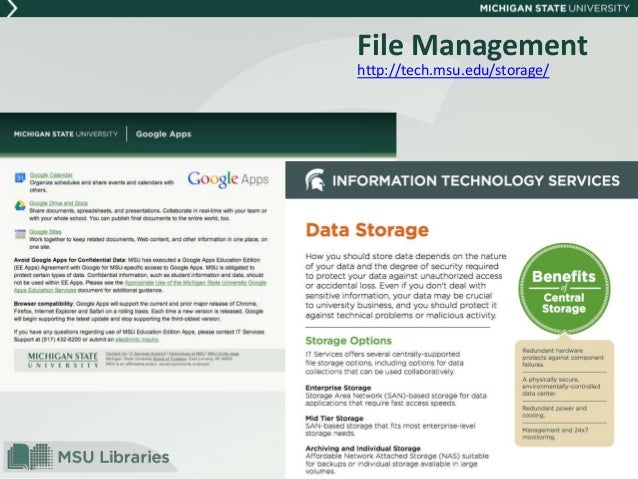 research data management fundamentals for msu engineering