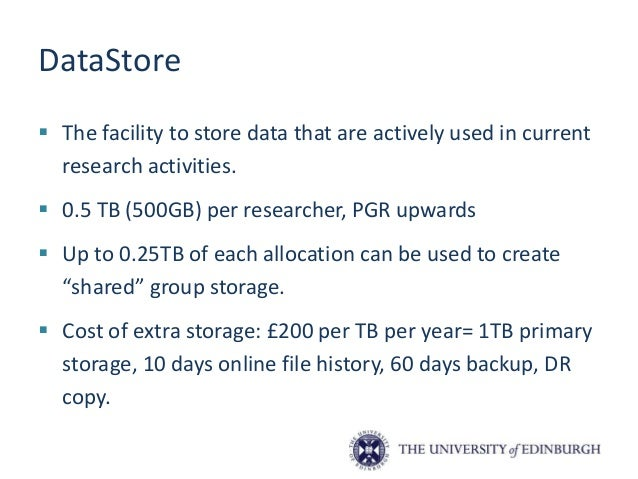 """Accessing DataStore • Allocation will be provided as a mapped drive (M: U: etc.) on staff desktops • Connect via """"Run"""" or ..."""