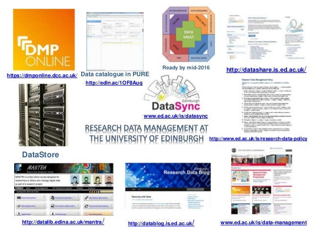 Useful links • RDM website http://www.ed.ac.uk/is/data-management • Research Code of Practice and related guidelines http:...