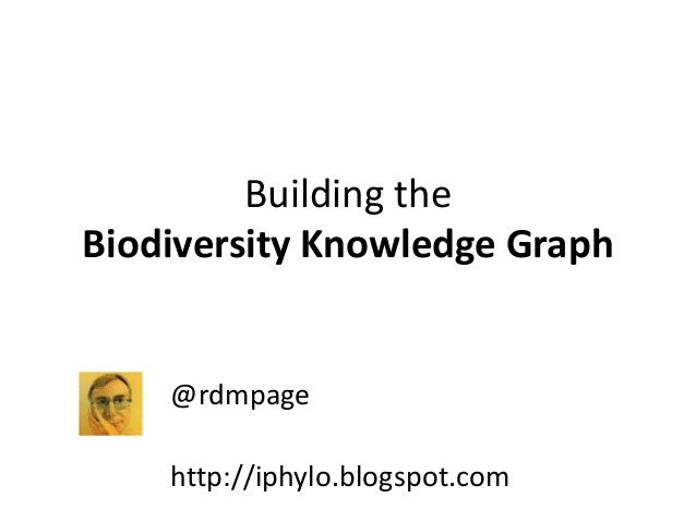 Building the Biodiversity Knowledge Graph @rdmpage http://iphylo.blogspot.com