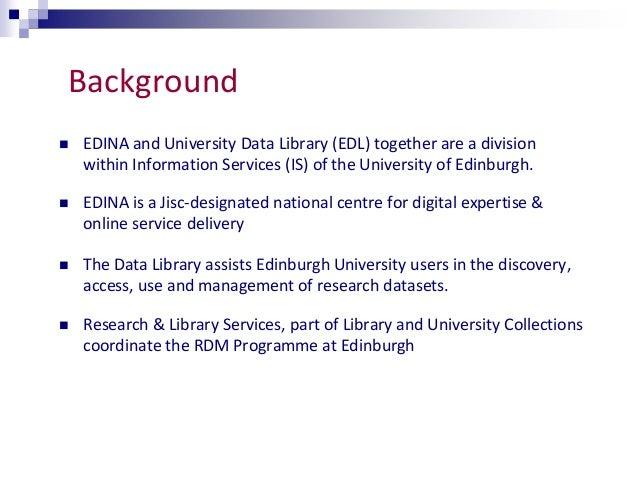 RDM through a UK lens - New Roles for Librarians?  Slide 3