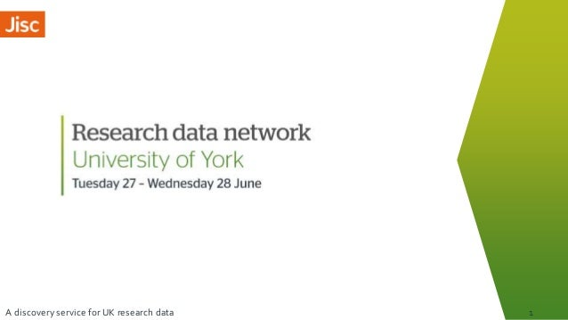 A discovery service for UK research data 1