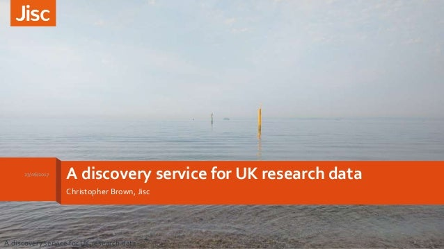 A discovery service for UK research data Slide 2