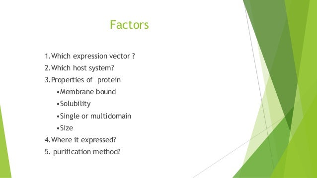Expression and purification of recombinant proteins in Bacterial and yeast system Slide 3
