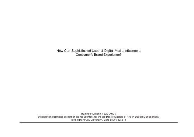 digital media dissertation
