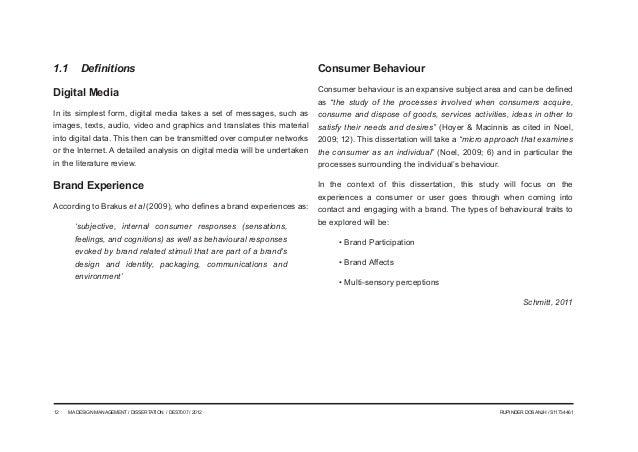 Dissertation on media management