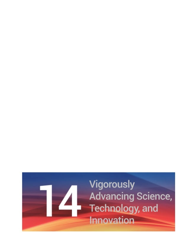 Chapter 14 Vigorously Advancing Science, Technology, and Innovation | 105