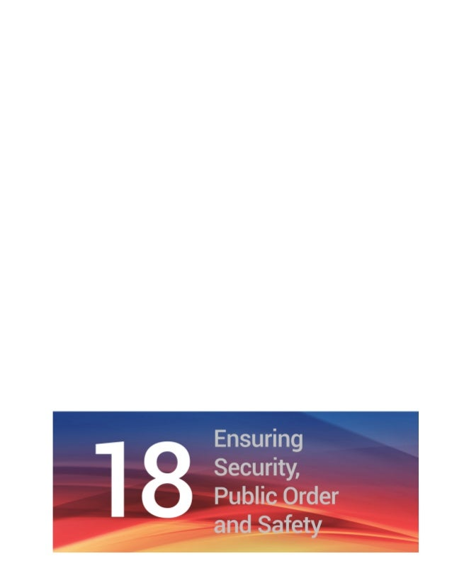 Chapter 18 Ensuring Security, Public Order and Safety 135