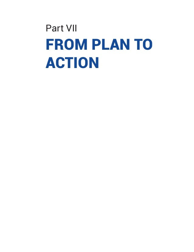 Part VII FROM PLAN TO ACTION