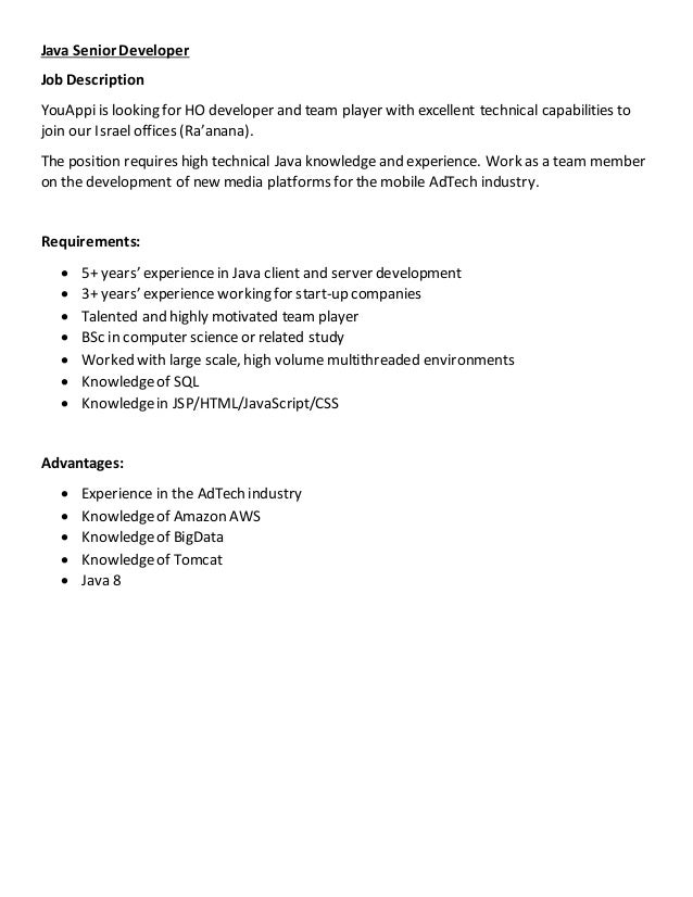 team member job description