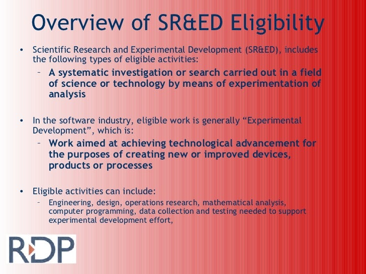Rdp Software & IT Eligibility Slide 2
