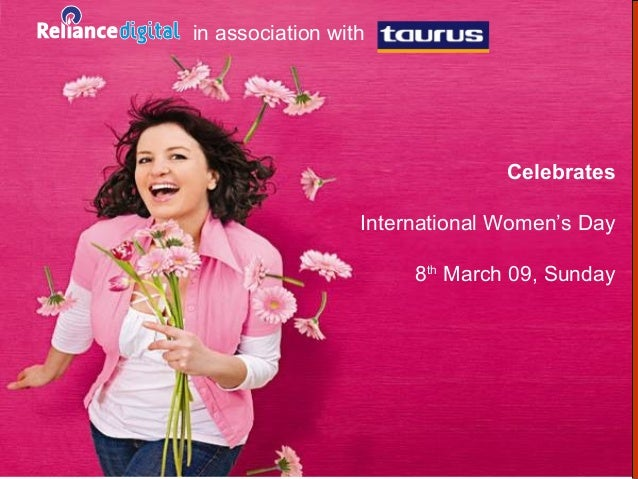 in association with                                Celebrates                  International Women's Day                  ...