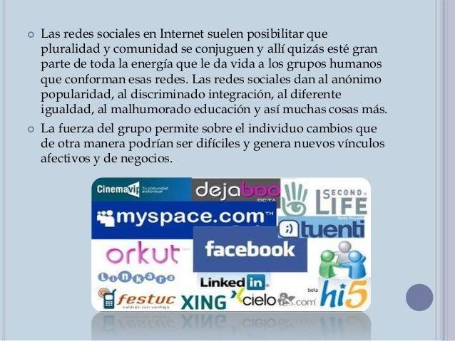 HISTORIA  Alrededor de 2001 y 2002 surgen los primeros sitios que fomentan redes de amigos. Hacia 2003 se hacen populares...