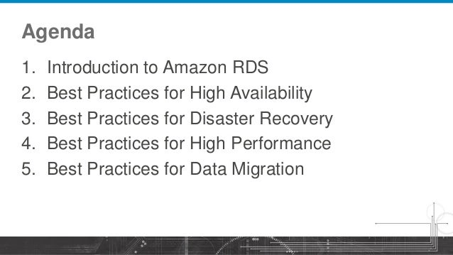 AWS Webcast - Amazon RDS for MySQL: Best Practices and Migration Slide 2