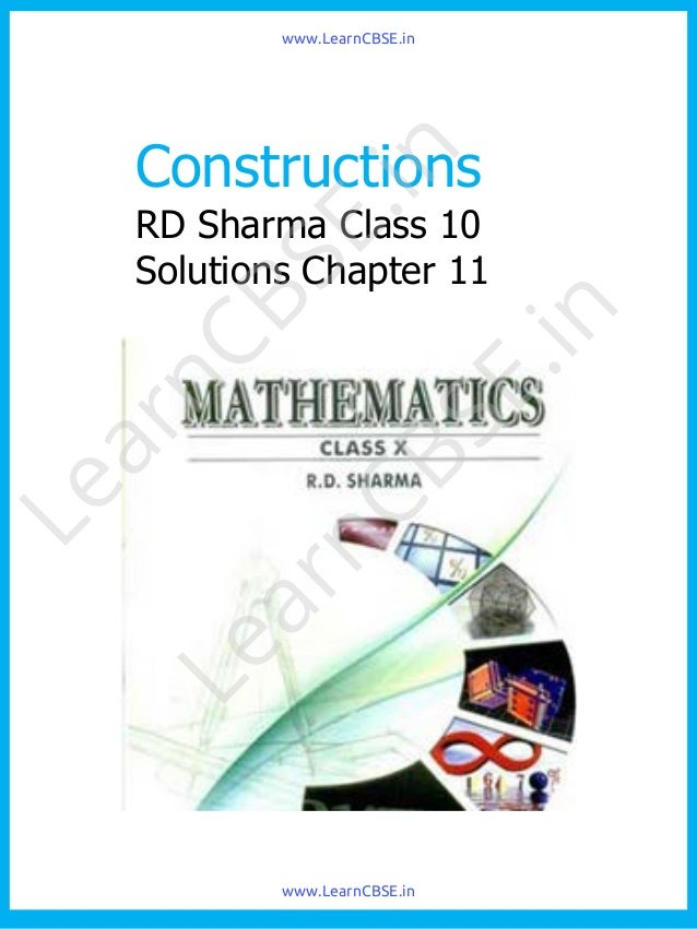 9th Class Rd Sharma Mathematics Book Pdf
