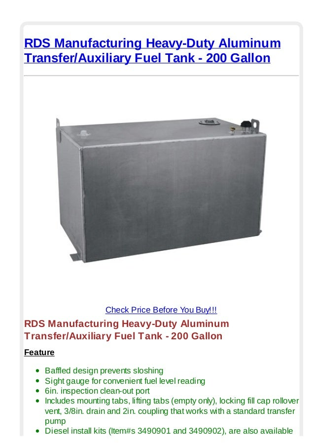 Rds manufacturing heavy duty aluminum transfer auxiliary ...