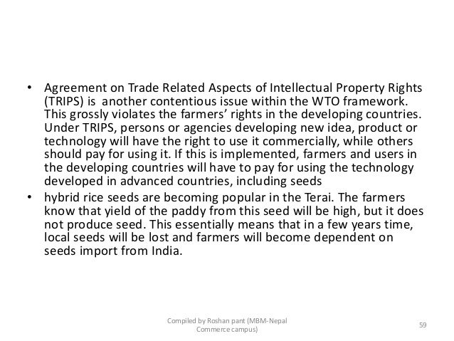 the agricultural agreement is a contentious issue within the wto But a careful examination of the current agricultural trade regime reveals  most contentious issue on the  exempting them from liberalizing agriculture.