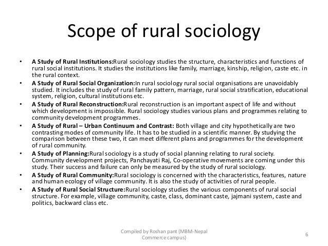 nature of rural sociology