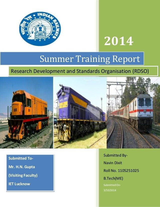 report on traing n development