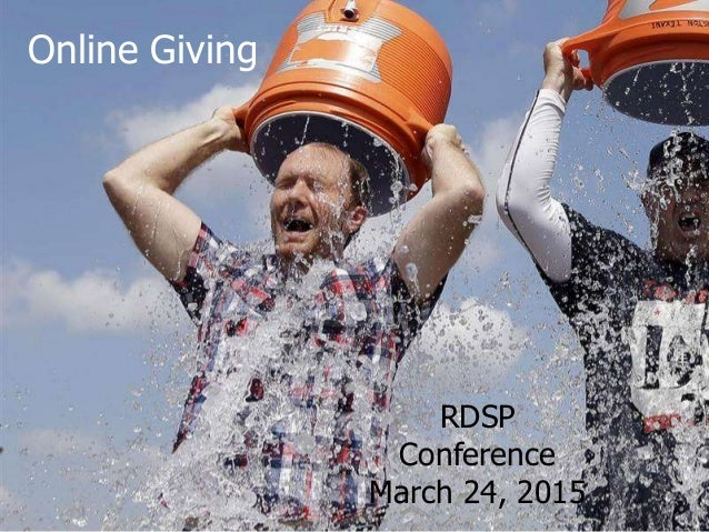 Online Giving RDSP Conference March 24, 2015