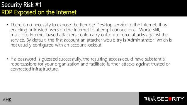 RDS /Remote Desktop Services] Lesson 1 : Security Risks
