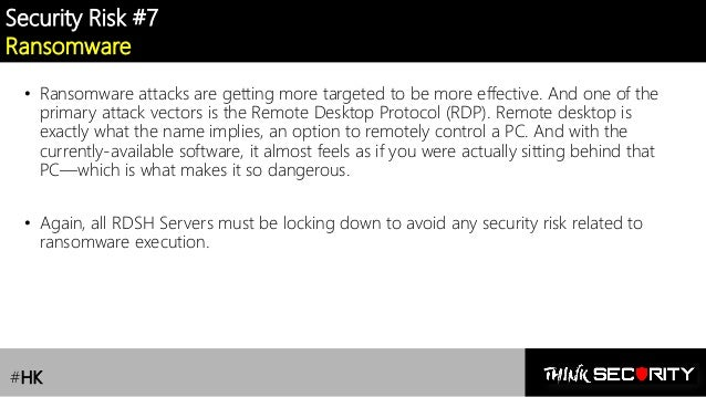 RDS /Remote Desktop Services] Lesson 1 : Security Risks & Best Pract…