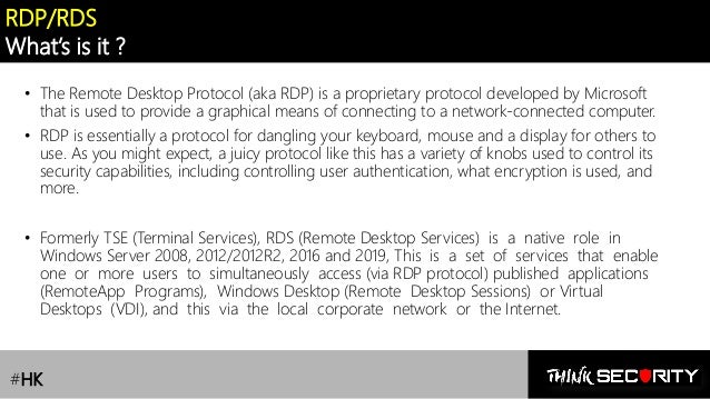 RDS /Remote Desktop Services] Lesson 1 : Security Risks