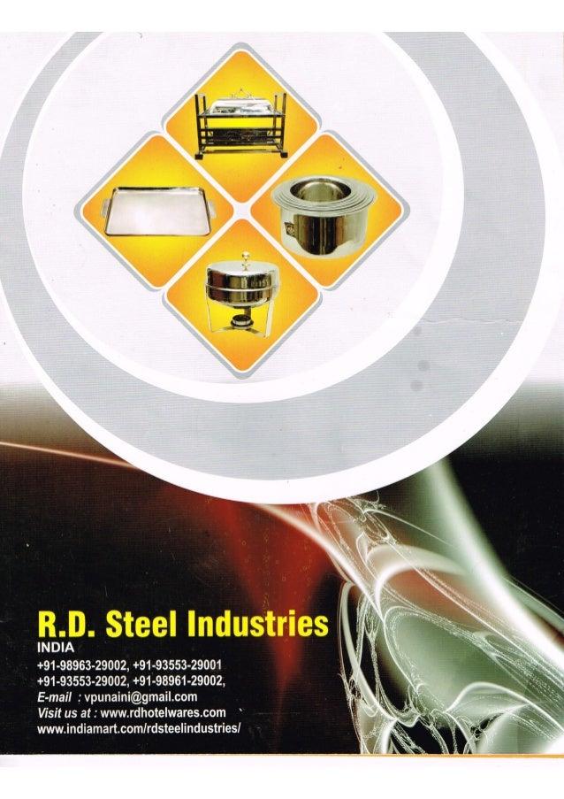 RD Steel Industries, Jagadhri, Stainless Steel Kitchen Ware
