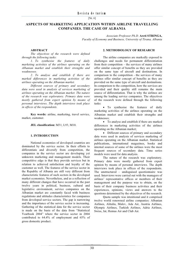 Revista de turism                                                      [Nr. 6]   ASPECTS OF MARKETING APPLICATION WITHIN A...