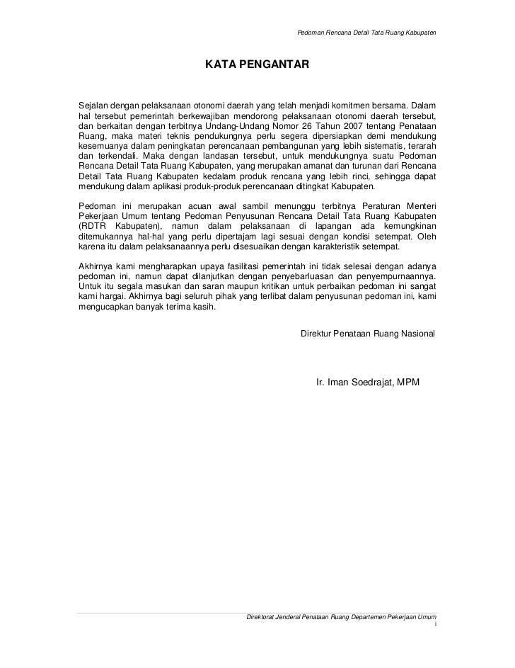 Pedoman Rencana Detail Tata Ruang Kabupaten                               KATA PENGANTARSejalan dengan pelaksanaan otonomi...