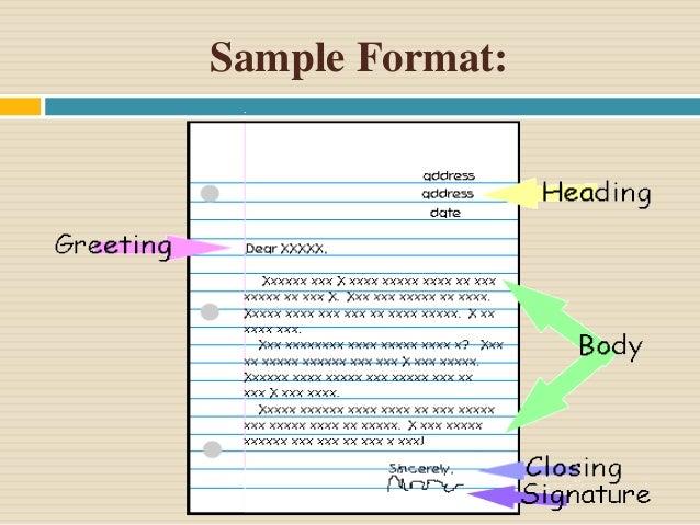 writing sample format